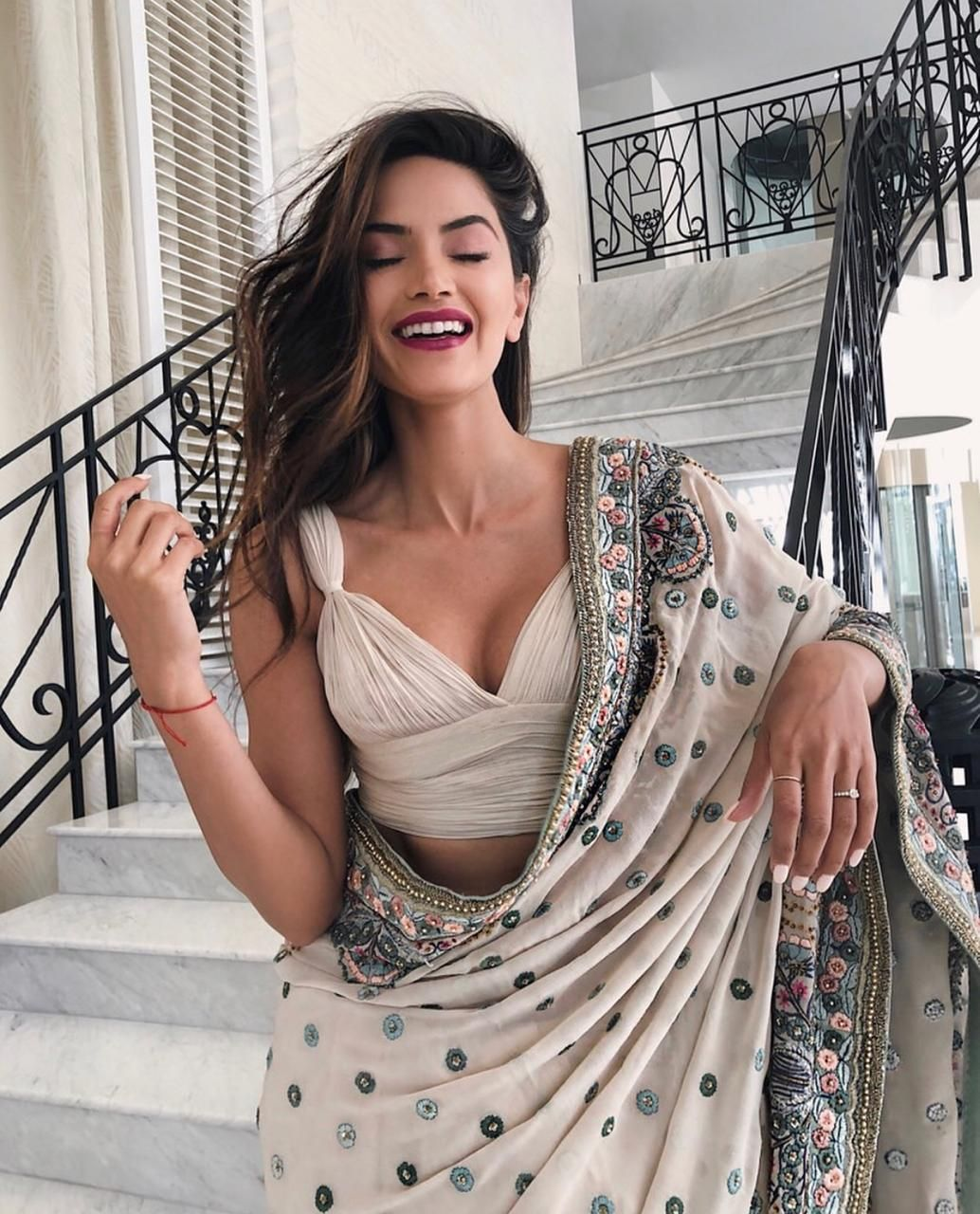 Ace blogger diipa khosla channels  visionary appeal in masterfully designed varunbahl couture saree also best incase indian images dresses rh pinterest