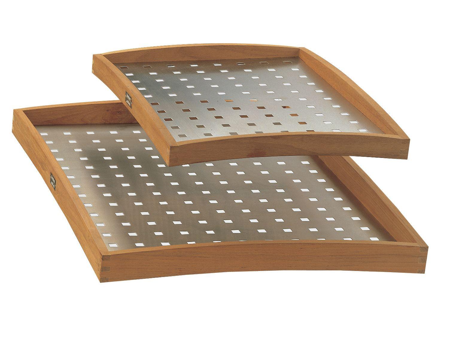 Tavolino Vassoio ~ Tavolino vassoio in legno collezione teak classic by fischer