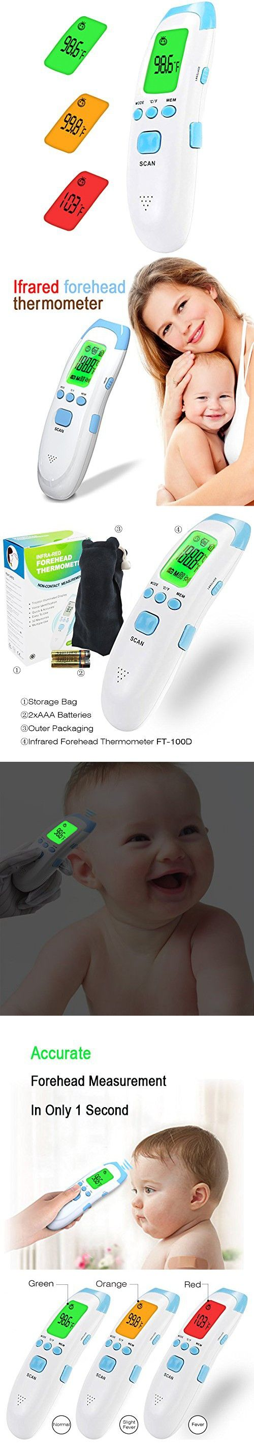 Baby Forehead Scan Thermometer Medical Non Contact Infrared Digital Adult Multi Function Body Gun For Kids Adu Accurate And Adults Fever