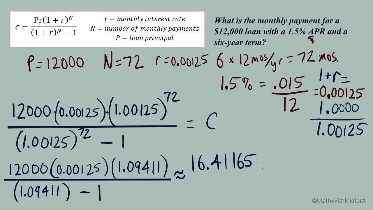 Mortgage Calculator 2019 How To Use The Monthly Payment Formula For Mortgages Loans W Mortgage Loan Calculator Online Mortgage Mortgage Amortization Calculator