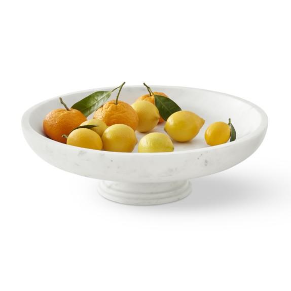 Marble Fruit Bowl Large Williams Sonoma Fruit Bowl Display Fruit Bowl Marble Bowl