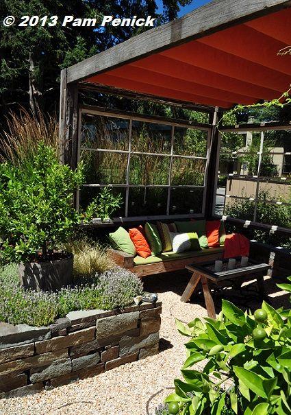 Fabric Shaded Arbor Display Gardens At Sunset Publishing 400 x 300
