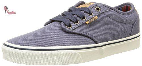 Vans Atwood Deluxe, Sneakers Basses Garçon, Bleu (Washed Twill/Navy/Marshmallow), 29 EU (UK Child 11.5 Enfant UK)