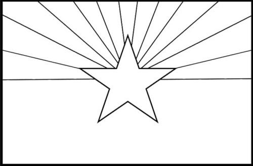 Arizona State Flags Coloring Pages Flag Coloring Pages Arizona