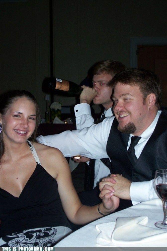 Wedding Photo Bomb! Anyone else thirsty?