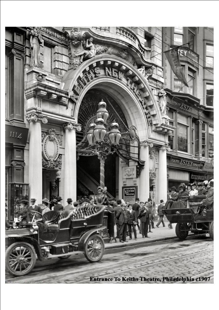PHILADELPHIA: Entrance to Keith's Theater, 1905