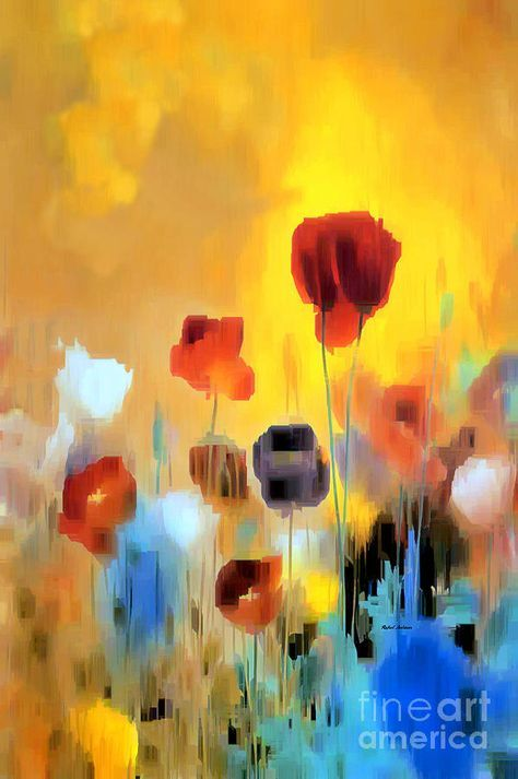 Flower Bouquet Of Poppies Digital Art by Rafael Salazar
