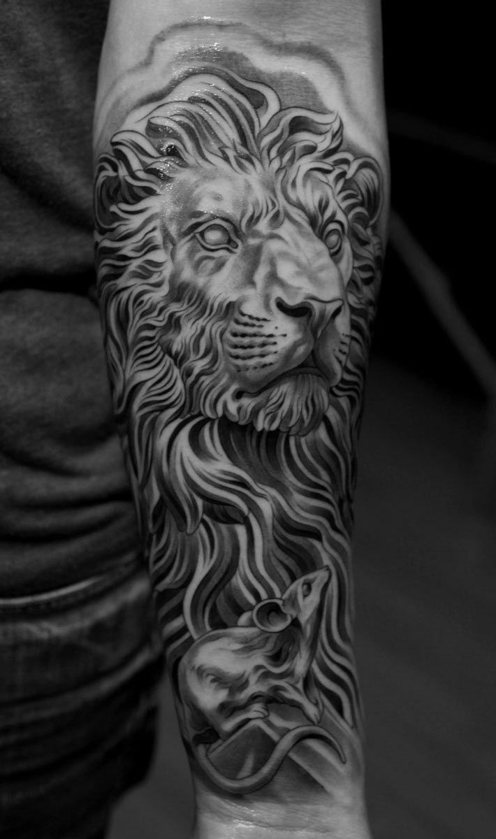 ab02050a2517b Jun cha | Tattoos | Lion tattoo, Lion tattoo design, Animal tattoos