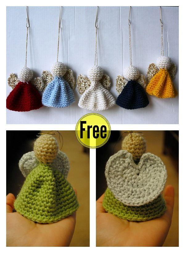 Christmas Angel Ornament Free Crochet Patterns | Schlüsselanhänger ...