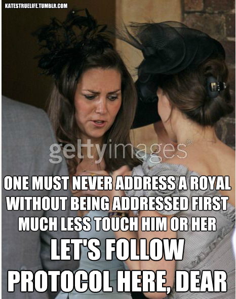 Protocol Prince William And Kate British Royal Family Duchess Kate