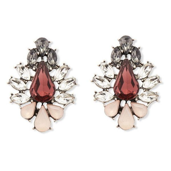 2ea646a0a Forever 21 Faceted Faux Gem Studs ($5.90) ❤ liked on Polyvore featuring  jewelry, earrings, diamond earrings, cluster earrings, stud earrings, fake  stud ...