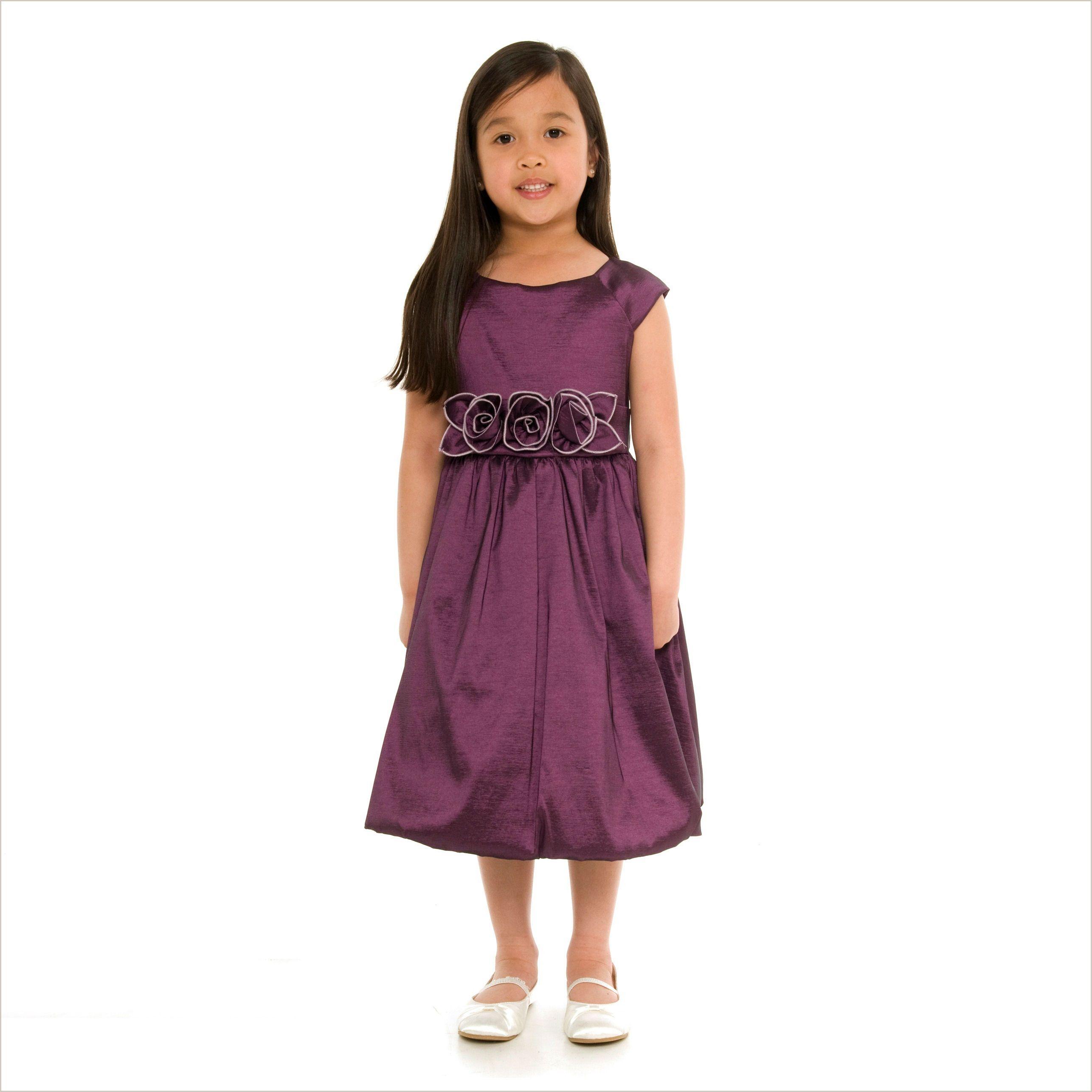 Julia Purple Bubble Dress with Rose Waist | Rose, Flower girl ...