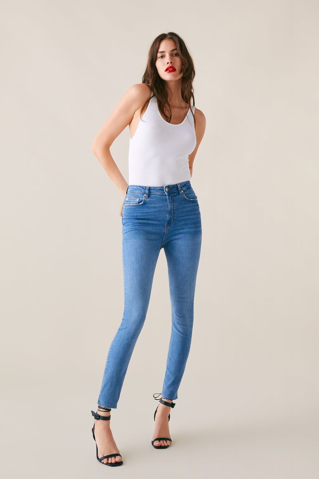 6a8794b529 Zw premium high waist skinny jeans in sunrise blue in 2019 | Items I ...