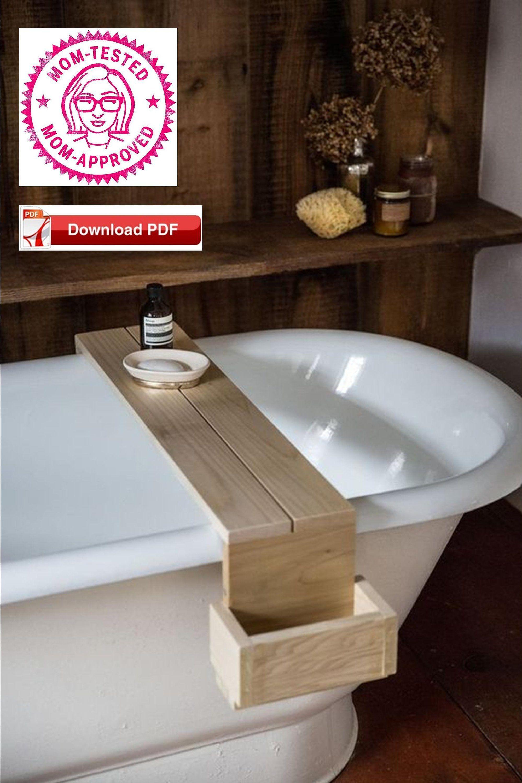 Bath Tray Plan Bath Caddy Plan Bathtub Caddy Plan Wood Tray Plan