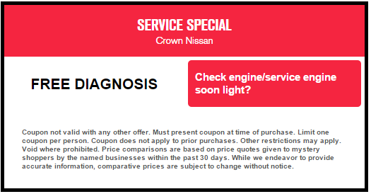 Free CEL Diagnosis At Crown Nissan Of Greensboro.  Https://www.nissanofgreensboro