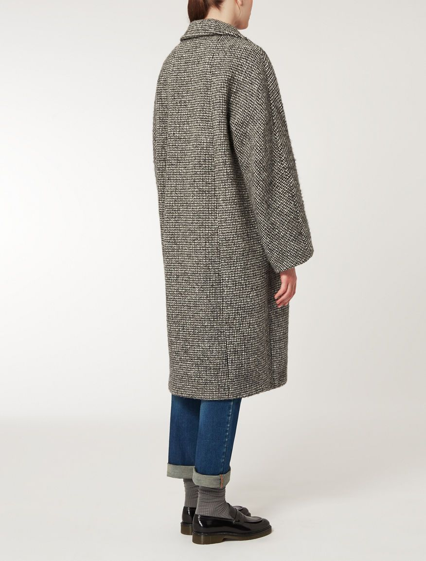 Wool knop coat