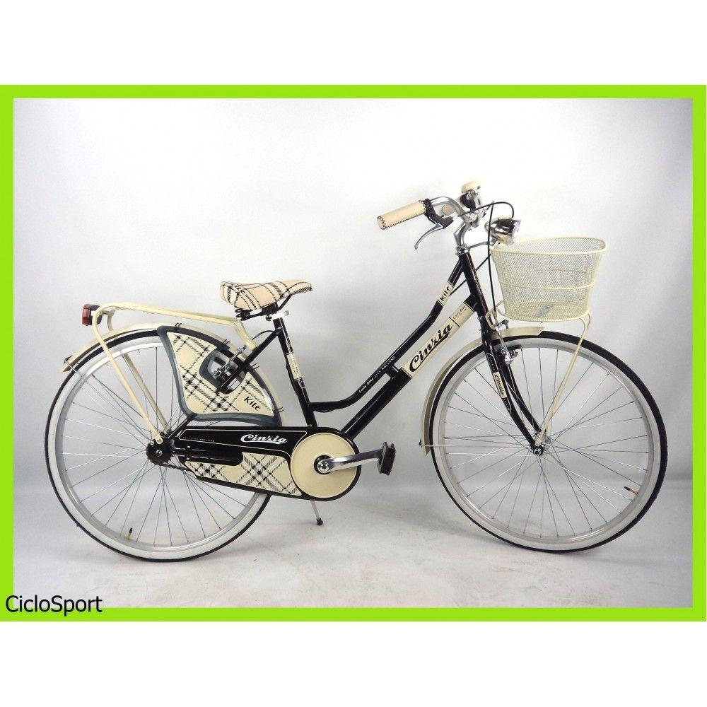 Bicicletta Cinzia City Bike Kilt De Luxe 26 Donna Acciaio Nero
