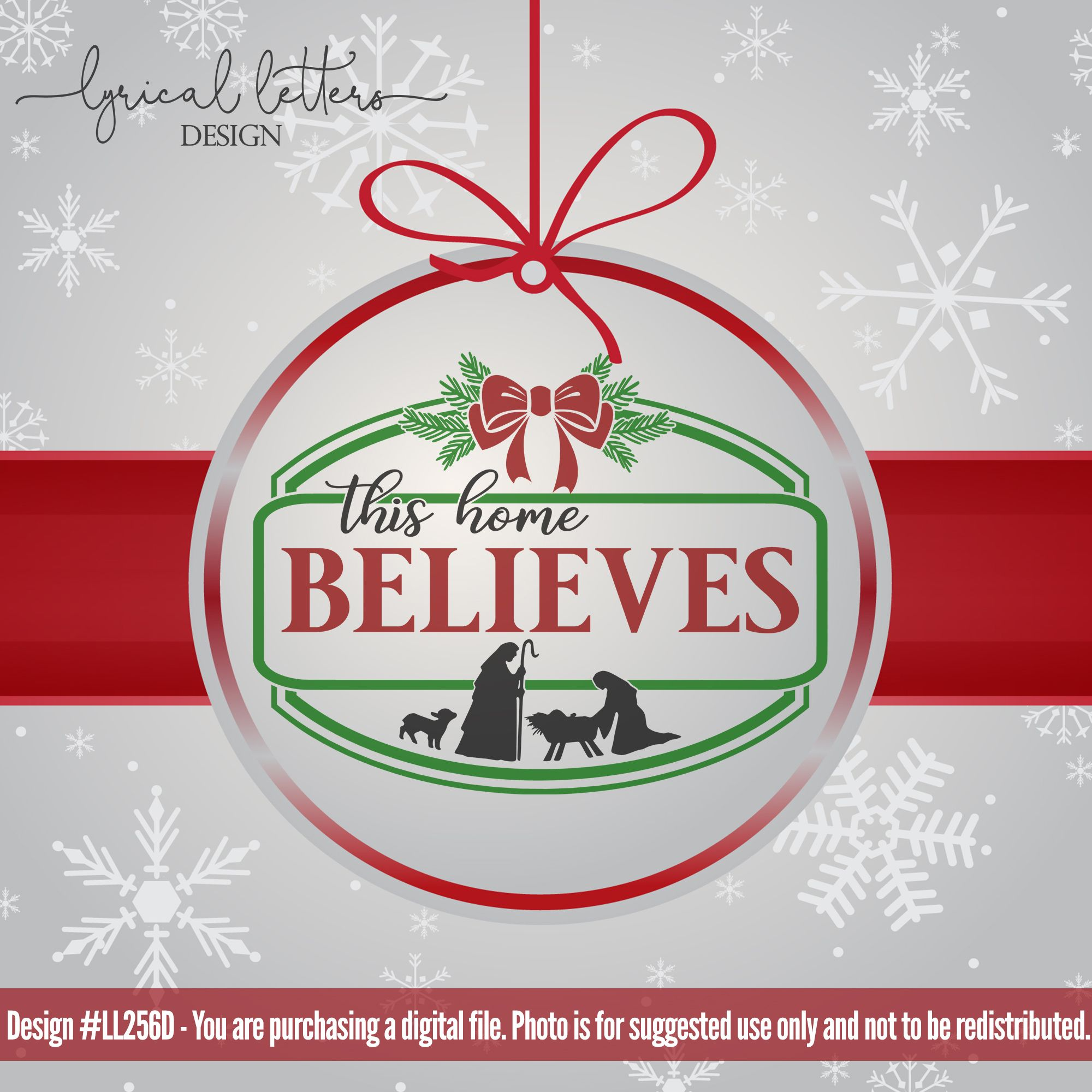 Farmhouse Christmas This Home Believes SVG DXF LL256D