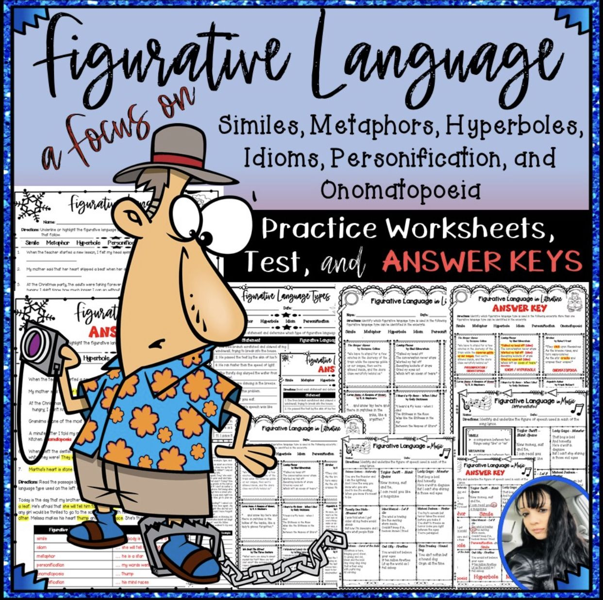 Figurative Language Practice Worksheets Test And Answer