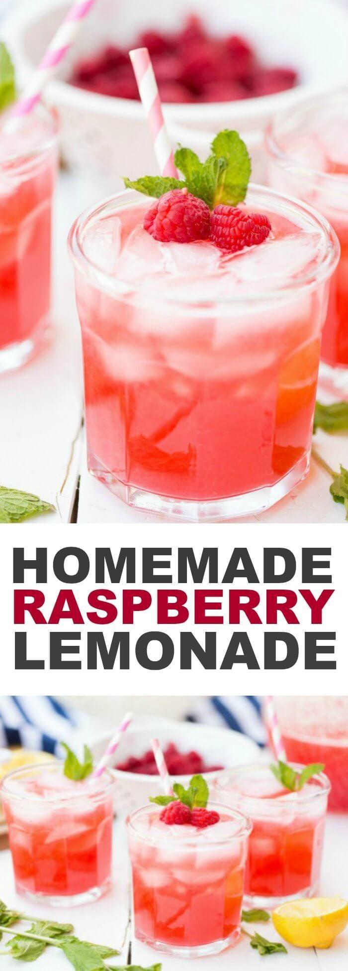 Homemade Raspberry Lemonade