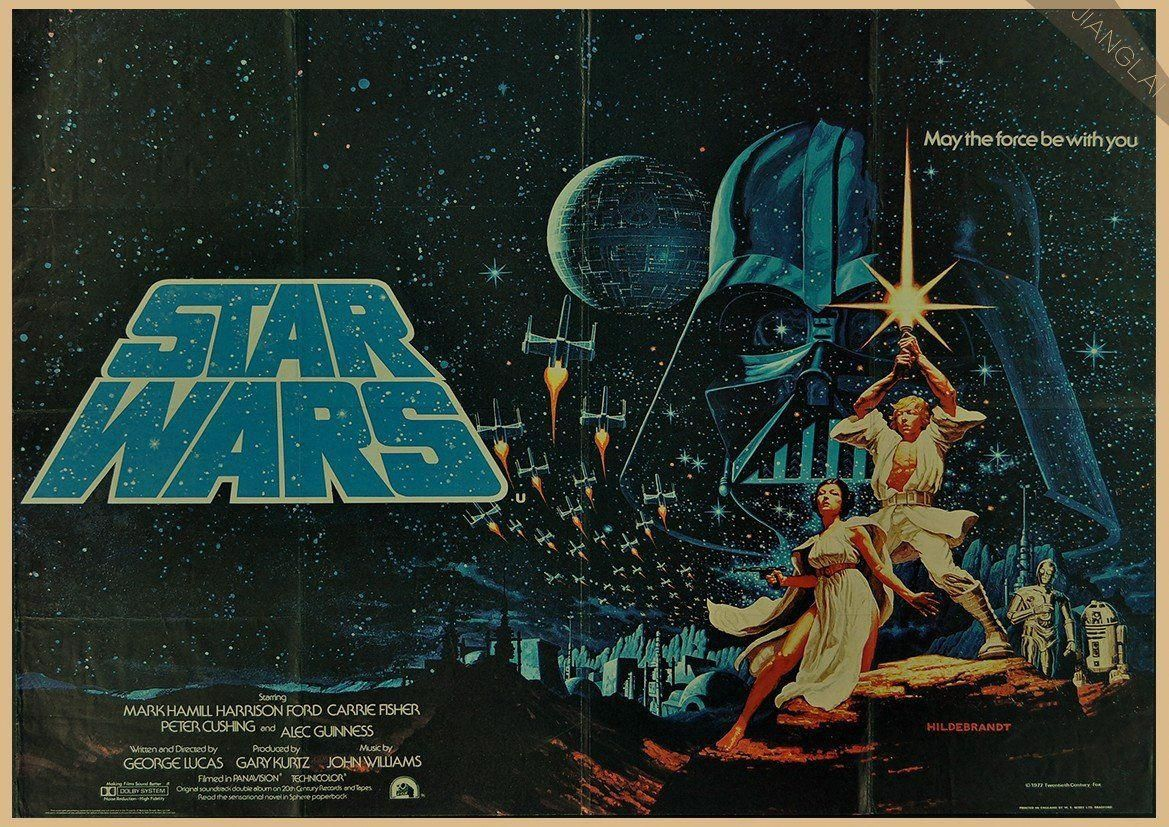 Art Print Poster Canvas Vintage Star Wars Retro,Classic Movie