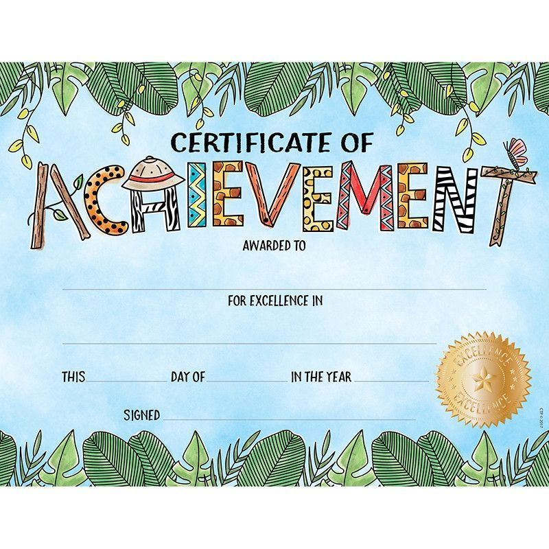 Safari friends lg certificate award Certificate, Students and School - certificate of achievement for kids