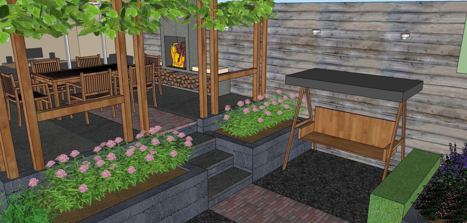 Tuin van 100m2 google zoeken garden design garden for Tuin 3d ontwerpen