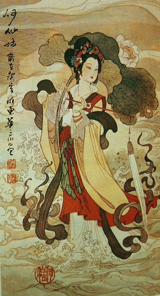 He Xiangu Eight Immortals Pinterest
