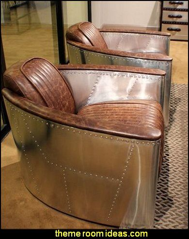 Club Arm Chair Aviator Top Grain Leather Vintage Brown
