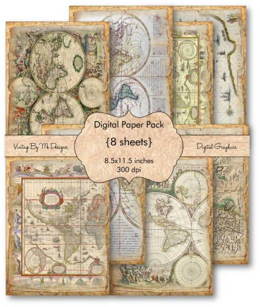 Antique world maps scrapbooking papers maps and globes pinterest antique world maps scrapbooking papers gumiabroncs