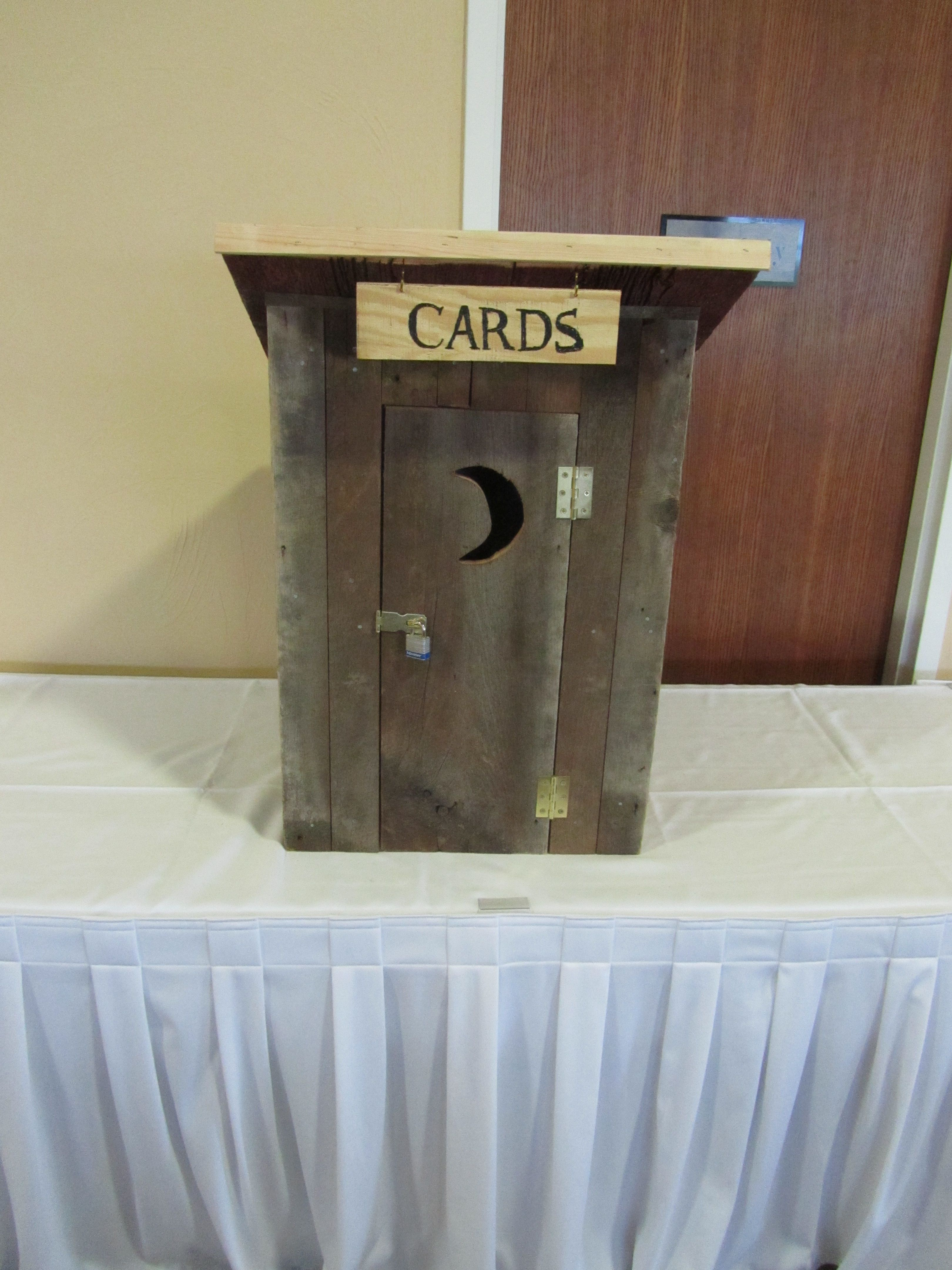 Gift card box ideas country chic wedding at the silo