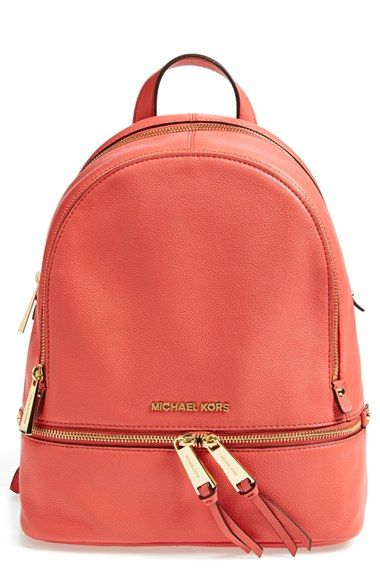 3c7ce5f8c484 MICHAEL Michael Kors 'Small Rhea' Leather Backpack available at #Nordstrom