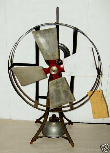 Very Rare Antique Display Model Hot Air Fan One Of A Kind