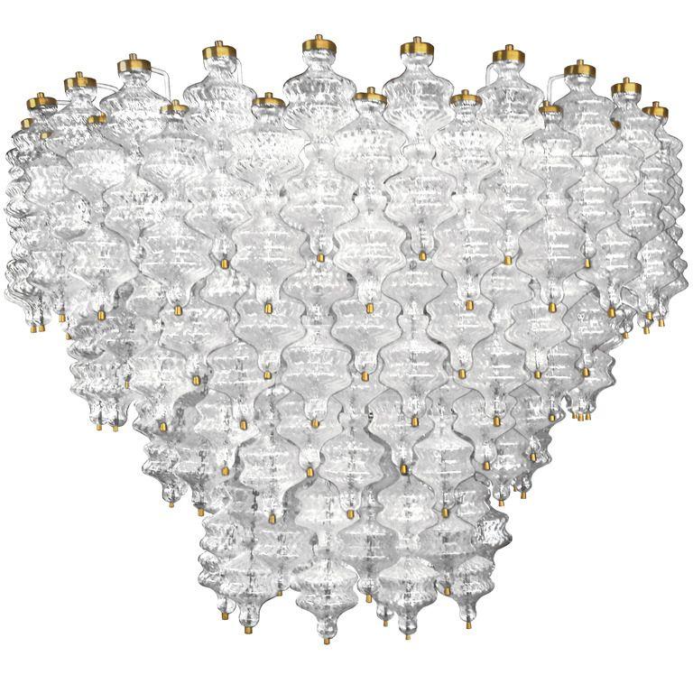 Amber chandelier antique crystal