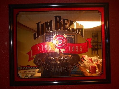 Man Caves Jim Beam : Jim beam mirror chucker chubb s man cave essential