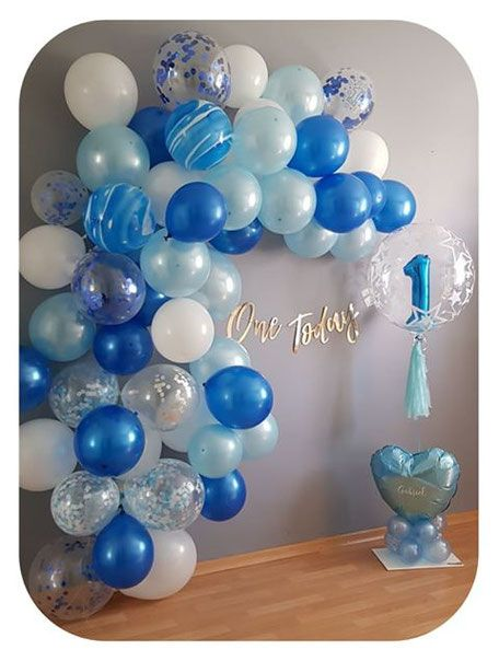 Geburstag Birthday Dekoration Ballon Geburtstags Deko 10 Luftballons blau 1