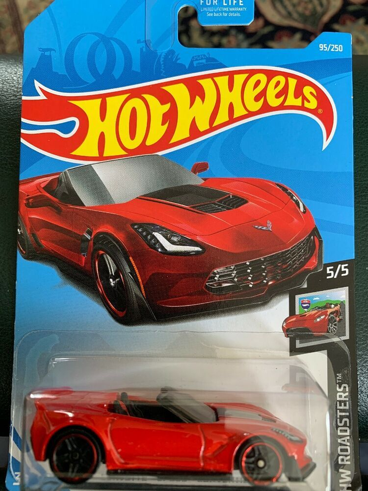 Hot Wheels Corvette C7 Z06 Convertible Red Car Hw Roadsters Ebay