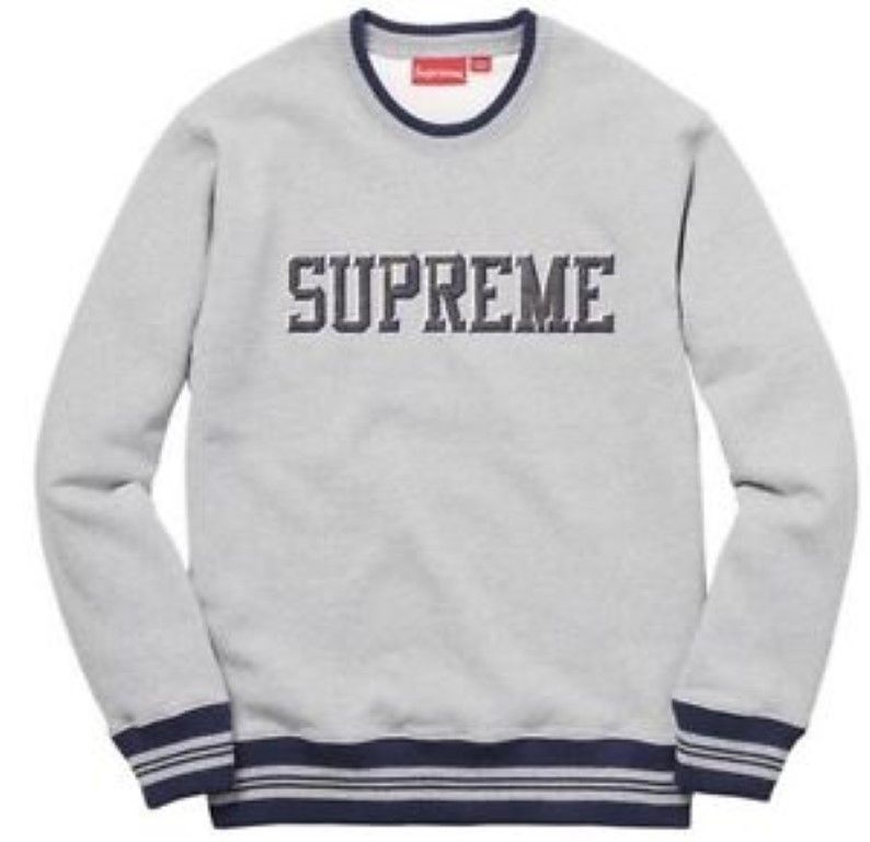df27c61af0a0 Mens New Supreme Felt Shadow Crewneck Heather Grey Large rrp 155 CS077 HH  19  fashion  clothing  shoes  accessories  mensclothing  sweaters (ebay  link)