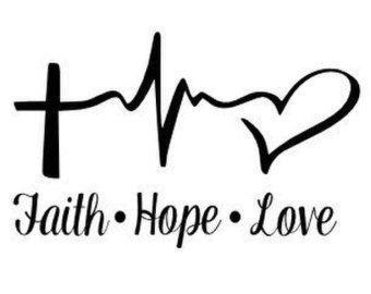 Faith Hope Love vinyl decal  YETI Rambler Tumbler by VinylPimps