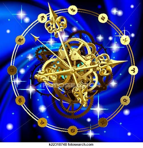 Clip Art of Star clock k22318748 - Search Clipart, Illustration Posters, Drawings, and EPS Vector Graphics Images - k22318748.eps