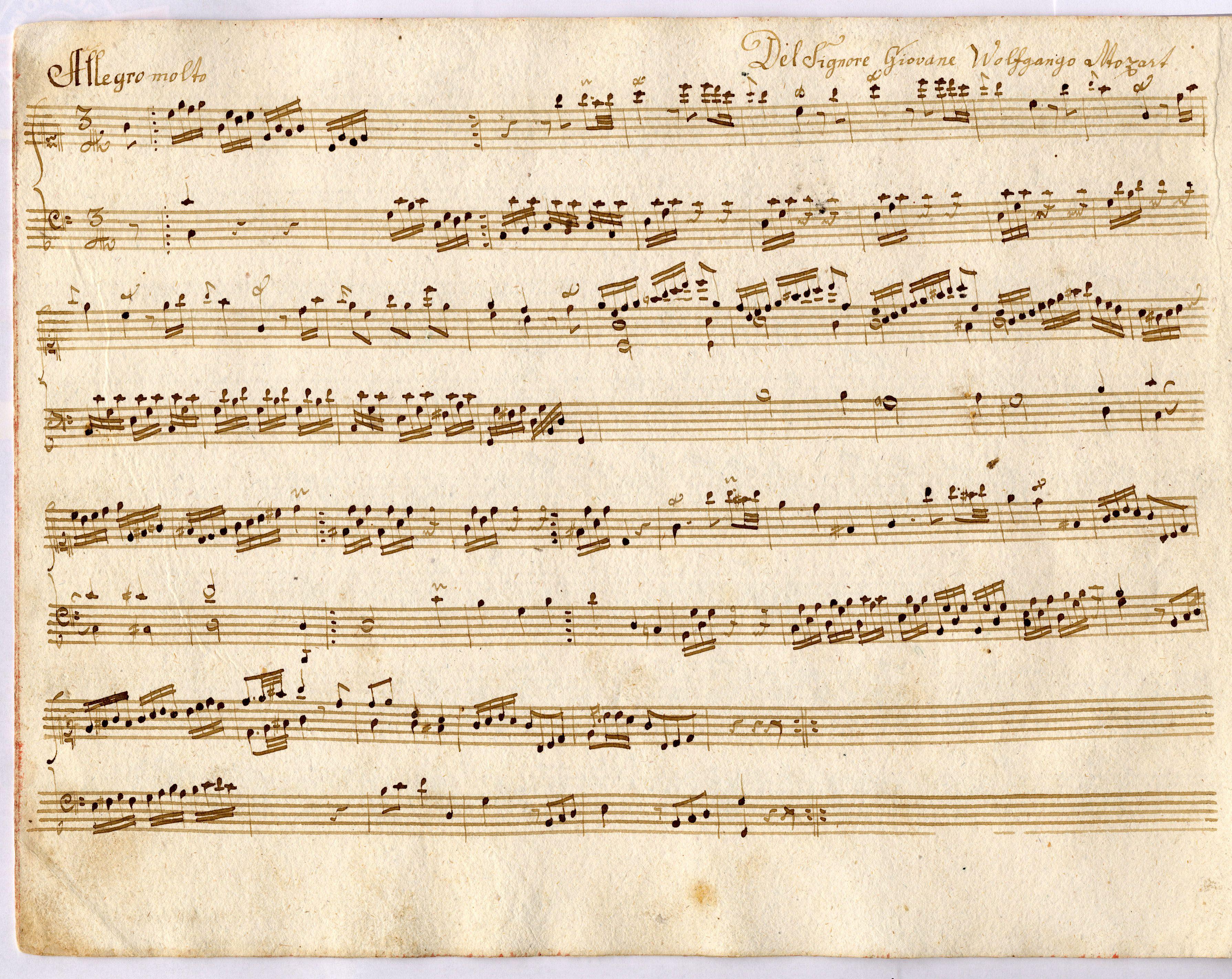 mozart original sheet music - Google Search | School House ...