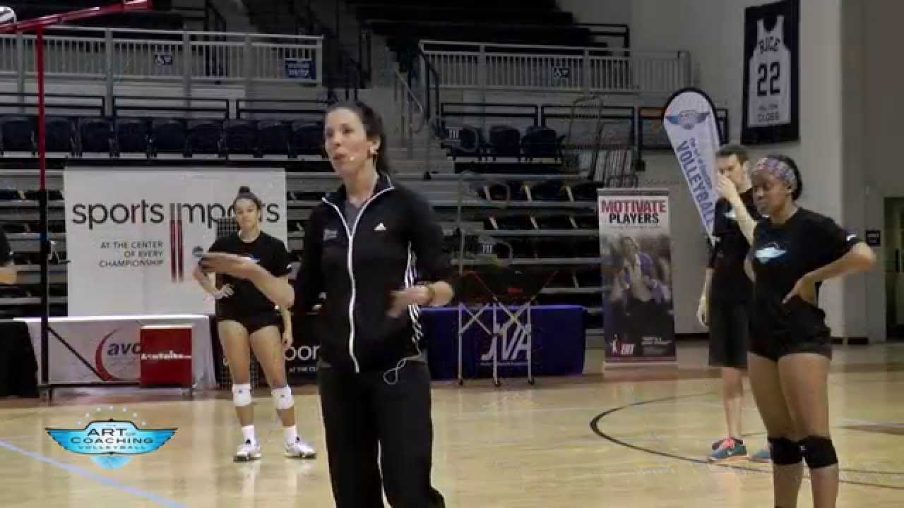 Initiation Drill With Genny Volpe Coaching Volleyball Volleyball Drills Drill