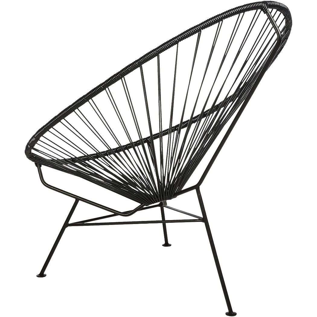 Shop Acapulco Black Egg Outdoor Chair Modernist Aesthetic Brings  # Muebles Mihogar San Jose