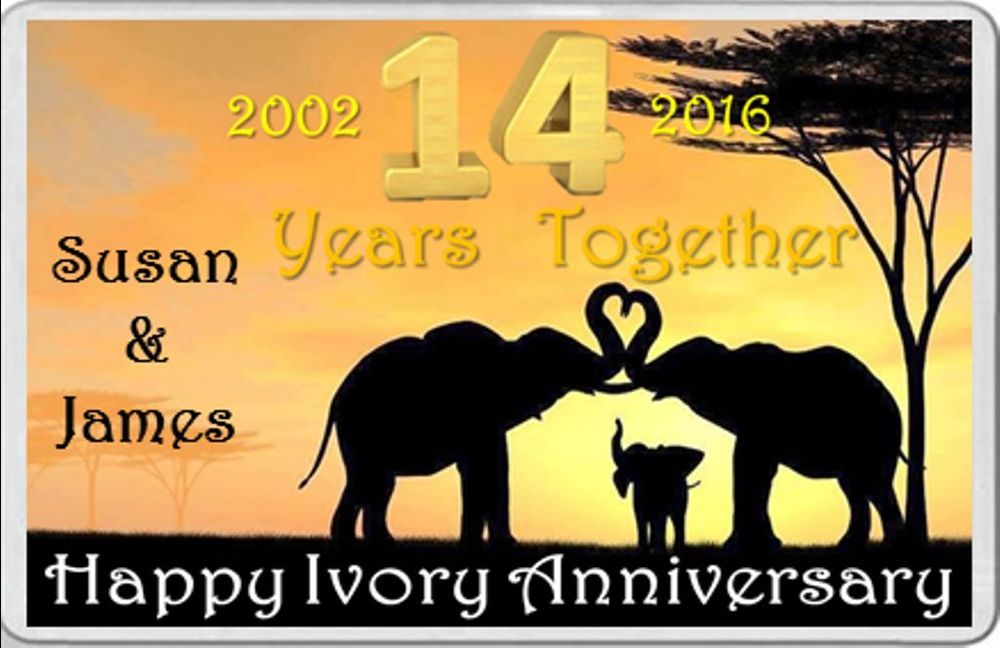Gift Ideas For 14th Wedding Anniversary: 14th Wedding Anniversary, Happy Ivory ANNIVERSARY