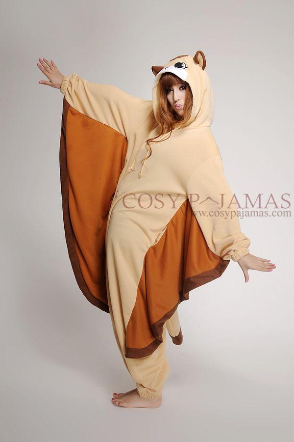 Adult Costume from USA SAZAC Flying Squirrel Kigurumi