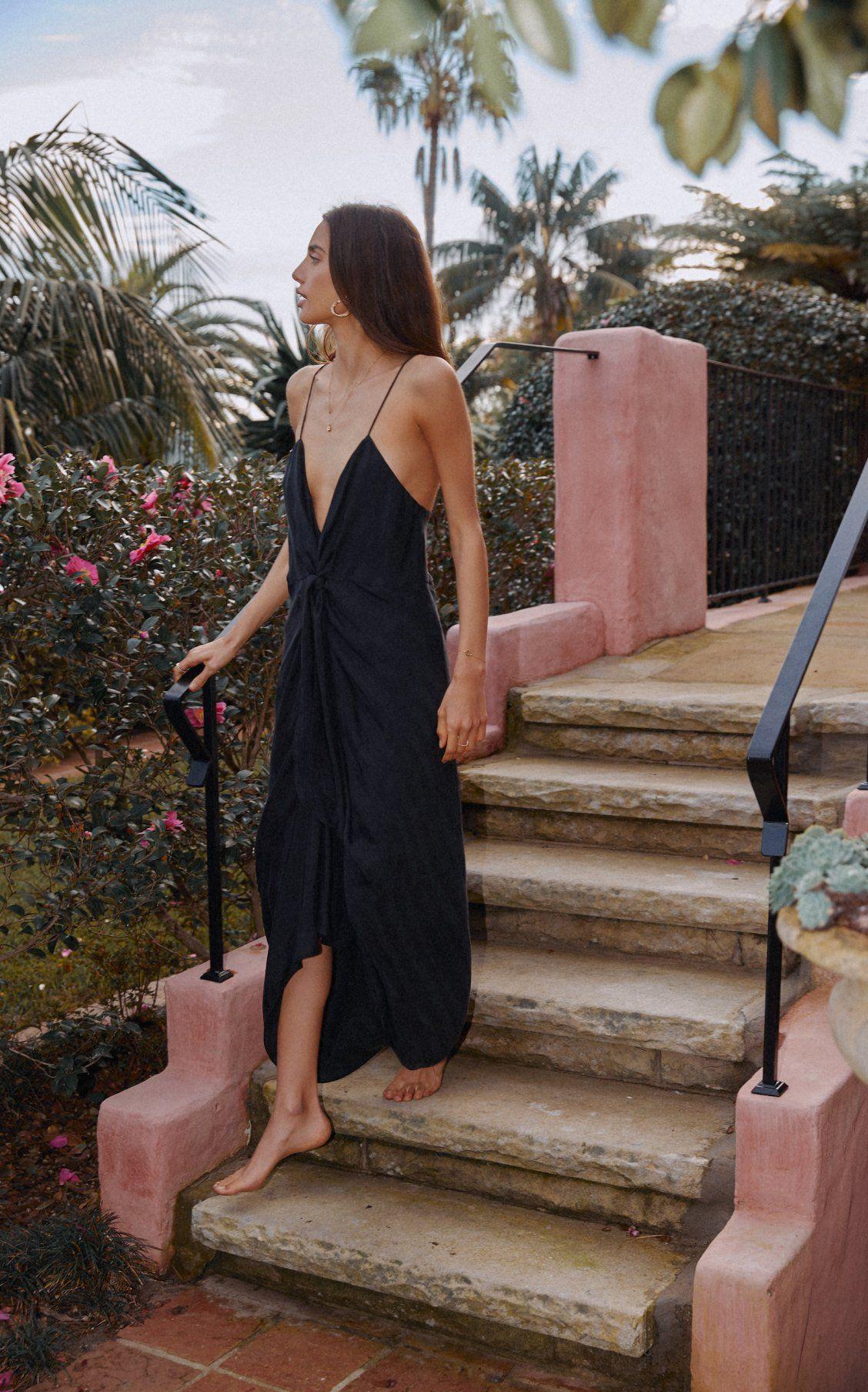 Moda Operandi Resort 2020 Significant Other Daphne V Neck Cupro Midi Dress Midi Dress V Neck Midi Dress Dresses