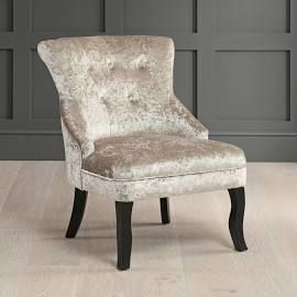 Vogue Champagne Gold Velvet Bedroom Chair with Black Legs | Room ...