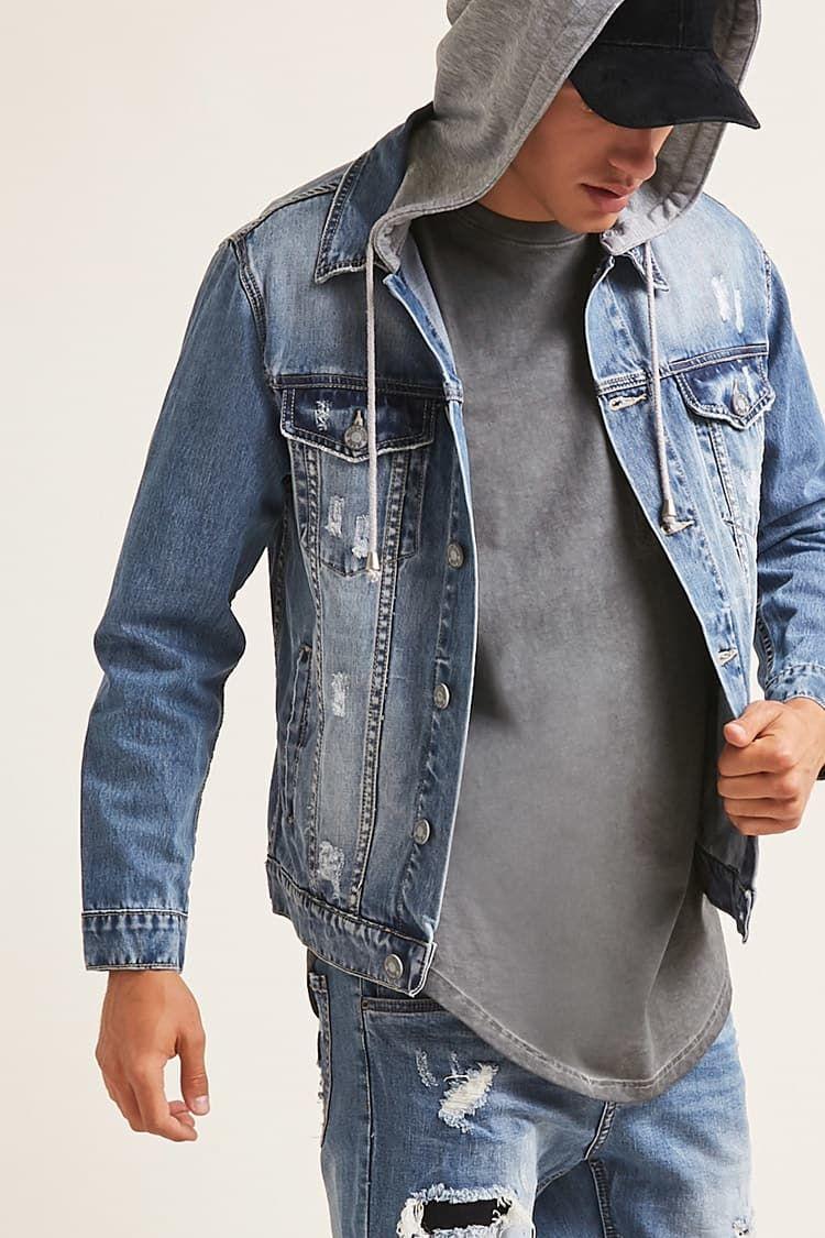 Victorious Combo Denim Jacket Forever21 Men S Coats And Jackets Latest Mens Fashion Denim Jacket [ 1125 x 750 Pixel ]