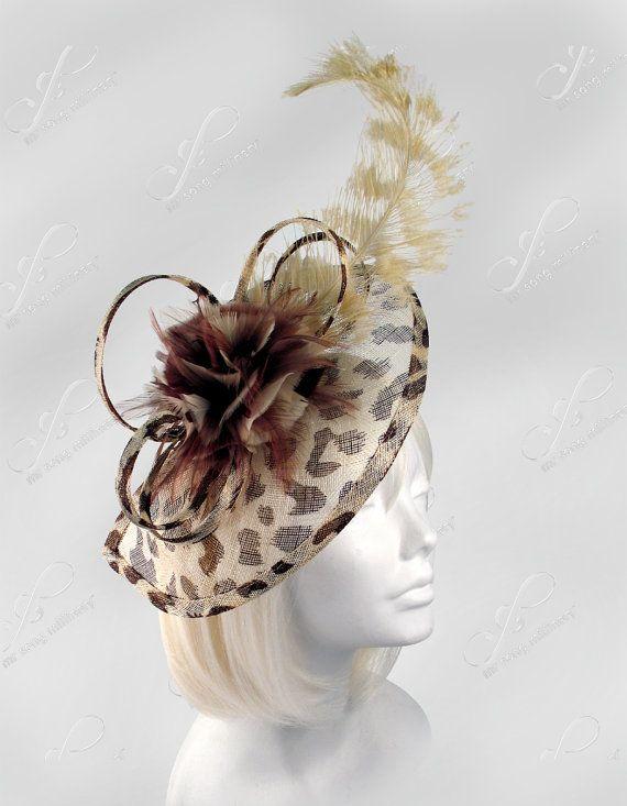 10b516366b5f9 Kentucky Derby Leopard Print Fascinator Headpiece by ffortissimo ...