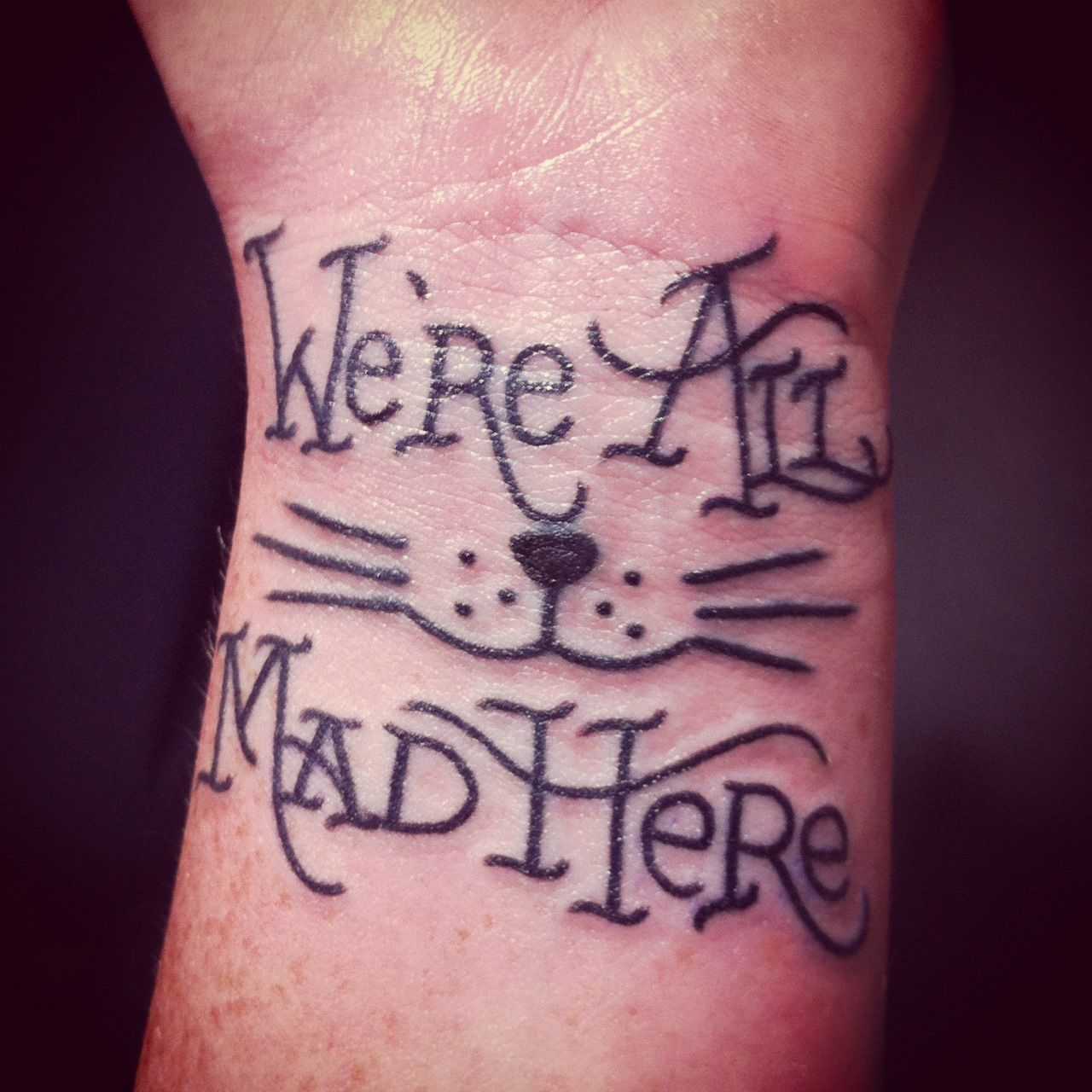 We\'re all mad here | Jesus loves my tattoo ideas | Pinterest | Mad ...
